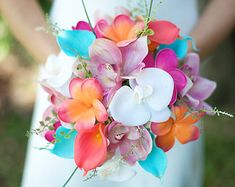 Wedding Coral Orange and Turquoise Teal Natural Touch by Wedideas