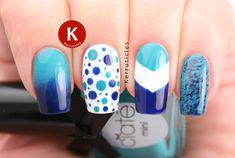 GOT Polish Challenge: Skittle: Turquoise and Navy Skittlette