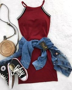 Outfits for teens, trendy outfits, spring outfits, cute teen outfits, cute outfits Teenage Outfits, Teen Fashion Outfits, Cute Fashion, Urban Fashion, Outfits For Teens, Girl Outfits, Fashion Clothes, Feminine Fashion, College Outfits