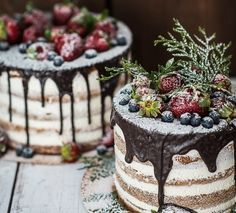 Daily Wedding Cake Inspiration in 2019 – Beautiful Wedding Cake Designs Pretty Cakes, Beautiful Cakes, Amazing Cakes, Christmas Desserts, Christmas Baking, Rodjendanske Torte, Cupcake Cakes, Cupcakes, Cake Decorating With Fondant