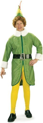 Colorful Buddy Elf Adult Costume.. New Buddy Elf Adult Mens Party Halloween Costume X-Large by Rubie's Costume Co