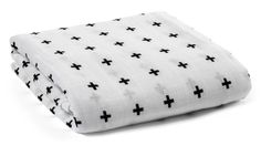 Organic Cotton Muslin Blanket: Swiss Cross