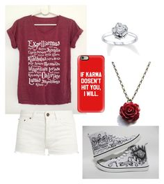 """""""Harry Potter Maroon"""" by emily-mcbride246 on Polyvore featuring Converse, Yves Saint Laurent and Casetify"""