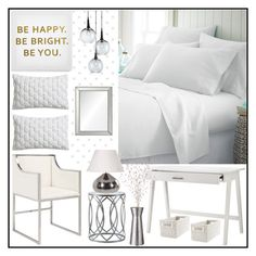 """Be Happy ...."" by loveartrecyclekardstock ❤ liked on Polyvore featuring interior, interiors, interior design, dom, home decor, interior decorating, Ankit, CB2, Worlds Away i Madison Park"