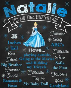 Cinderella Personalized Birthday by LittleDragonflyParty on Etsy