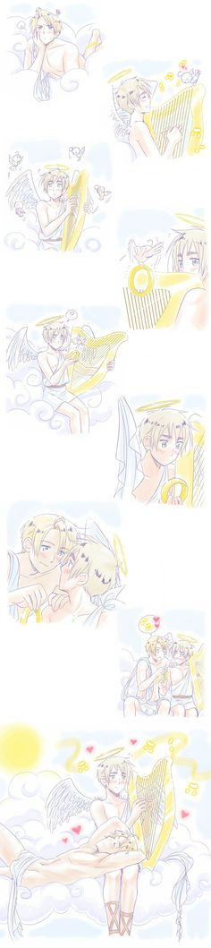 Hetalia ~ USUK ~ another cute comic from sweethearts week on livejournal. If you like this you probably like USUK, sooo if you do follow the link and join this livejournal community........well why are you still here?!