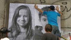 Strasbourg : des posters d'enfants de réfugiés sur les murs de la tour Seegmuller - France 3 Alsace