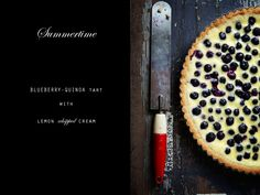 Blueberry Quinoa Tart  #blueberries  #dessert