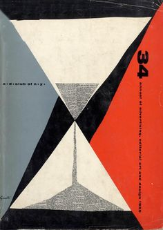 Graphic design by George Giusti (1908-1990), 1955, Annual of Advertising, editorial Art & Design.