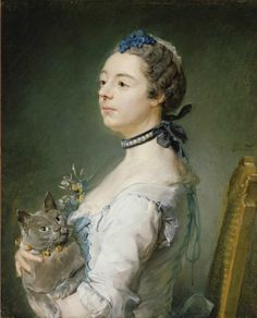Jean-Baptiste Perronneau - Portrait of Magdaleine Pinceloup de la Grange, née de Parseval, 1747 - oil on canvas - The J. Paul Getty Museum at the Getty Center