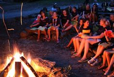 Church camp bon-fires