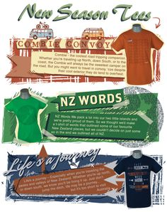 Cool new season t-shirts by global culture. Get your hands on the sweetest NZ Tee designs.