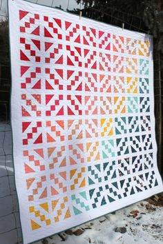 Ganache Quilt pattern from the Fat Quarter Shop made by Amy Smart