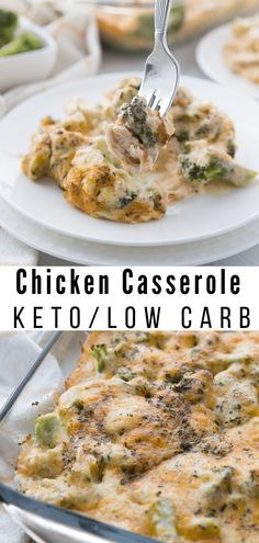Low Carb Chicken Casserole {keto friendly} This simple Low Carb Chick. Low Carb Chicken Casserole {keto friendly} This simple Low Carb Chicken Casserole is packed full of delicious chicken, broccoli, and cheese. The entire family will enjoy. Low Carb Recipes, Diet Recipes, Healthy Recipes, Lunch Recipes, Dessert Recipes, Smoothie Recipes, Low Calorie Chicken Recipes, Easy Recipes, Diet Desserts