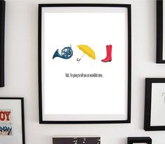 Typography Print, How I Met Your Mother, Quote Type Poster, Wall Decor Print, on Etsy, $10.00