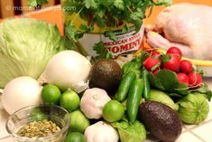 This green pozole with chicken recipe is exactly like we made it at home in Mexico when I was growing up. A delightful combination of chicken, hominy, tomatillos, cilantro, garlic & spices. Mexican Food Recipes, Soup Recipes, Cooking Recipes, Healthy Recipes, Recipies, Chicken Pozole Recipe, Chicken Recipes, Chicken Soups, Salsa Verde