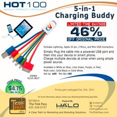 Q4 HOT100 Specials are here! This week, we spotlight the versatile 5-in-1 Charging Device.  Recharge your message with our innovative 5-in-1 Charging Device decorated with your brand's logo. This unique device makes it easy and convenient to charge multiple devices at once. Perfect for travel and on-the-go charging.   #promoproducts #branding #promotionalproducts #tech #marketing #incentives #advertising #tradeshow #gift #adspecialties #sale #bestseller #5in1charger #Halobrandedsolutions
