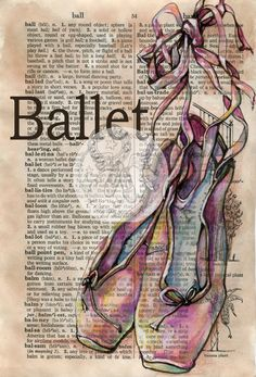 As always, her work is incredible.    flying shoes art studio: BALLET MIXED MEDIA DRAWING