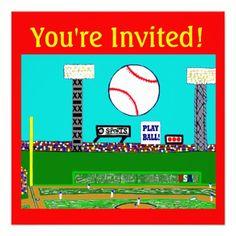 2013 Kids Sports Birthday Party Invitations Custom