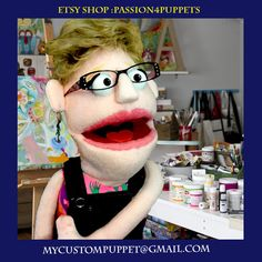 Custom Puppets Professional Puppet Lady by Passion4Puppets on Etsy