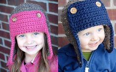 """So cute, another pattern from Adrienne Engar of """"The Fuzzy Noggin"""".  Fun and super easy to make.  Invest in some good soft yarn for this project."""