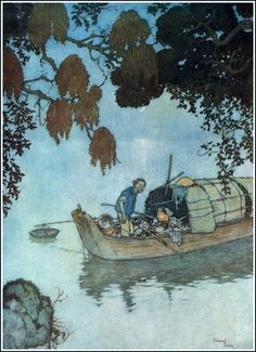 "Edmund Dulac (October 22, 1882 – May 25, 1953) Watercolour illustration for HC Andersen's ""The Nightingale"", 1911"