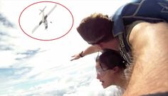 After these Skydivers jumped, the Airplane took a 180 degree turn and headed straight towards them! What Happened next will shock you