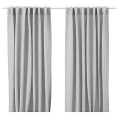 Ikea Aina Pair of Curtains 2 Window Panels Linen Drapes 98 Long New NIP  #IKEA #Traditional