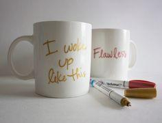Sharpie and plain mug shenanigans.