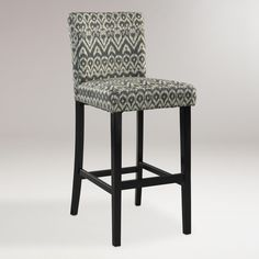 Home Decor - Driftwood Ikat Reese Barstool | Get paid up to 8.6% Cashback when you shop at Cost Plus World Market with your DubLi membership. Not a member? Sign up for FREE at www.downrightdealz.net