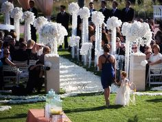 Wedding Ceremony Decorations   Patrick on your gorgeous wedding and magazine feature! This wedding ...