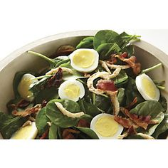 Delores Spinach SaladTaste Testers Top Choice from Through the Country Door® Healthy Soup, Healthy Recipes, Spinach Salad, Baby Spinach, Italian Salad, Fruit Salad Recipes, Thanksgiving Side Dishes, Food Menu, Soup And Salad