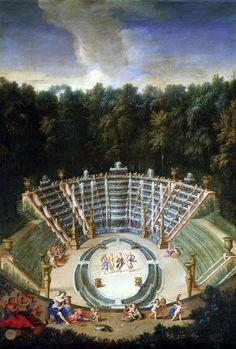 de Salle de Bal ou Bosquet des Rocailles dans les jardins de Versailles de Cotelle Jean, le Jeune