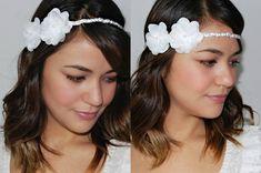 Headband NOIVA com pérolas & flores