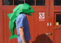DIY Geometric Halloween Masks by Wintercroft