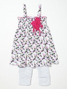 Floral Tunic & Legging Set by Petit Lem, on sale now!