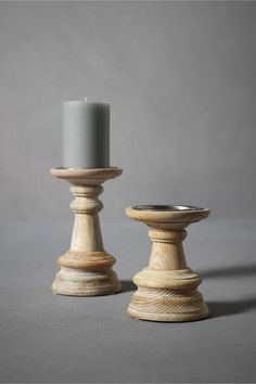 On Wooden Lathe Candlesticks