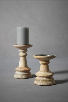 On Wooden Lathe Candlesticks