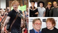 Ed Sheeran Tattoos Rixton; Performs With Elton John