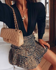 Date-night with Mr. Luxe... who dis? 🐯🐾🦁 Leopard Print Skirt, Leopard Print Outfits, Fall Outfits, Fashion Outfits, Womens Fashion, Fashion Fashion, Fashion Ideas, Autumn Fashion, Glam Hair