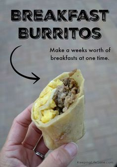 These breakfast burritos are quick and easy to make and I love them on a busy school morning or a protein packed afternoon snack.