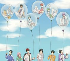Kuroko no Basket This picture alone describes all the important relationships I think! (Except for Hyuuga and riko)