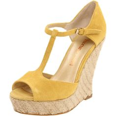 Luxury Rebel Carol T-Strap Wedge in Mustard