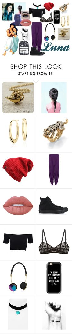"""""""Luna (Aladdin & Jasmine Daughter)"""" by jassmiine-1 ❤ liked on Polyvore featuring Blue Nile, Palm Beach Jewelry, BHCosmetics, WearAll, Lime Crime, Converse, American Apparel, Free People, Frends and Casetify"""