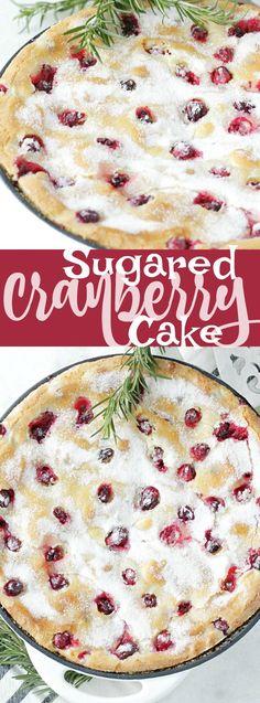 Sugared Cranberry Cake