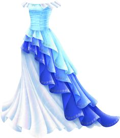 Shimmery Blue Princess Gown at Liana's Paper Dolls! Free printable PDFs at the site.