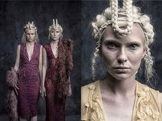 Velvet Magazine editorial february 2015 model: Magda and Sara of MMG Models hair&makeup: Jojo Dantespadua photographer: Tina patni designer: Furne Onė if Amato Couture