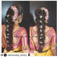 #Repost @nikithareddy_artistry with @get_repost ・・・ A traditional braid with a twist 😍 I love how the whole thing looks 😇 Designer : @needleeye_bangaloreofficial Bride : @thanushree_reddy #maccosmetics #makeuptutorial #southindianweddings #southindian #indianweddingphotographers #instagood #karnataka #indianweddingphotography