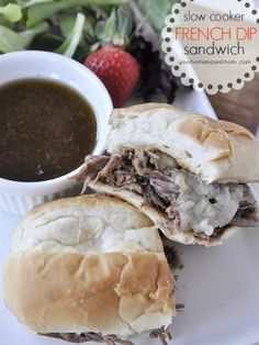 Slow Cooker French Dip Sandwich- made this and it was awesome.  I didn't have beef broth so made some with water and Better Than Boullion base.  Sauteed onions and peppers to go on top and grilled the buns.  Great for Football Sunday.