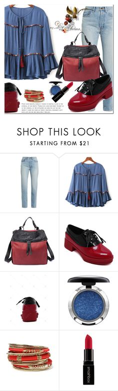 """""""Z2"""" by jecakns ❤ liked on Polyvore featuring Yves Saint Laurent, MAC Cosmetics, Amrita Singh, Smashbox, outfit, boho, loafers and falltrend"""